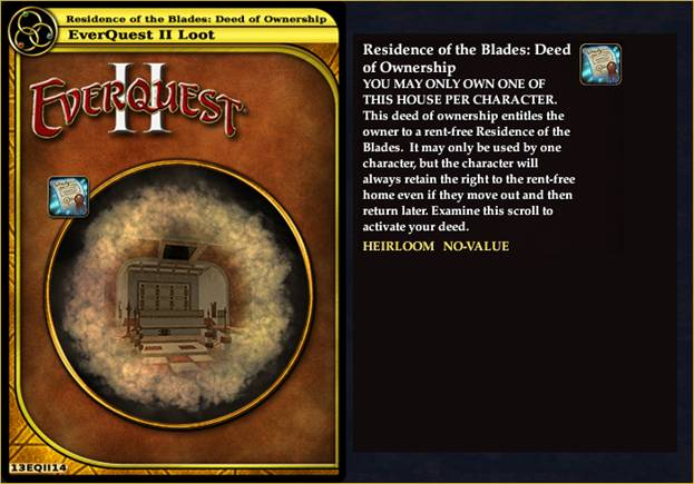 Residence of the Blades: Deed of Ownership