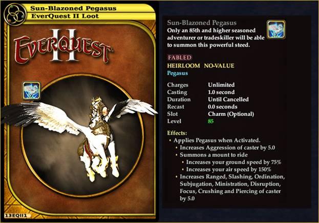 Sun-Blazoned Pegasus EQII