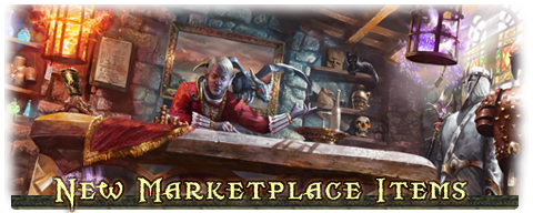 New Marketplace Items
