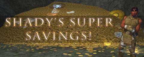 Shady's Super Savings banner